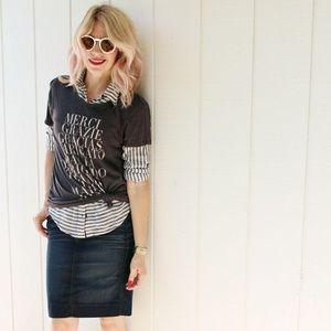 🆕 Listing! J. Crew denim pencil skirt